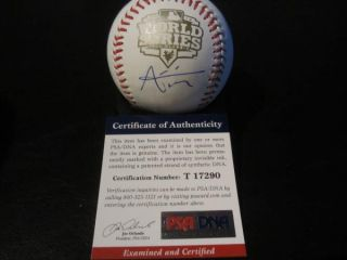Joaquin Arias Signed 2012 World Series Baseball PSA DNA San Francisco