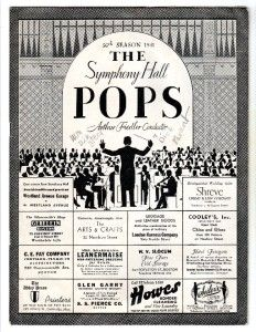 Boston Pops Program Inc Menu w Restaurant Napkin Arthur Fiedler