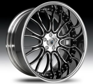 20 asanti AF145 Black Chrome Wheels Rims 2 Piece Tone