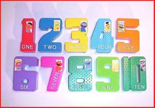 sesame street 4 1 2 tall plastic numbers complete set of 1