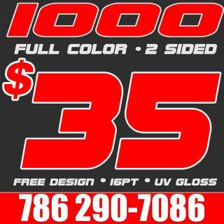 Full Color Business Cards Printing & Design UV FREE PERSONAL ARTWORK