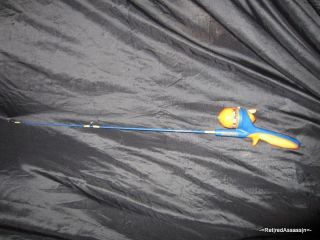 RARE Blue Yellow Shakespeare Scooby Doo Backpack Fish Rod Reel Fishing