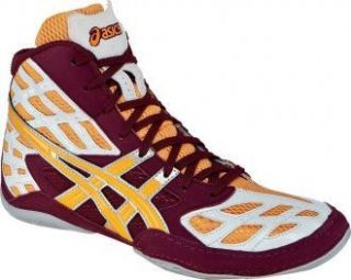 Asics Split Second 9 Mens Wrestling Shoes Cardinal Tangerine White