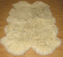 Sheepskin Sheep Skin Rug 43x75 Lambskin Ivory Wool