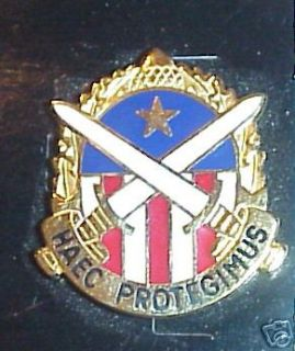 New/unissued US Army HAEC Protegimus unit crest pin new/unissued.2 pin