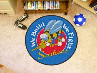 United States Navy Seabees 29 Round Area Rug Floor Mat