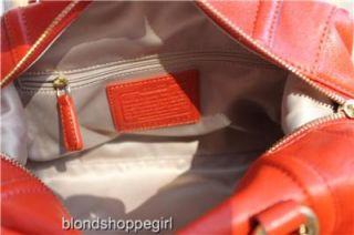 Coach Ashley Orange Leather Satchell Brass 19247 $358 Convert Bag