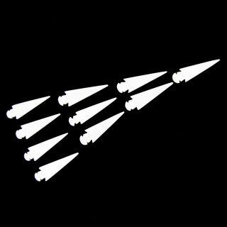 Real Buffalo Bone Arrow Heads 10 Primitive Tribal Scouts Spear Arrows