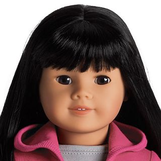 New American Girl 18 inch Asian Doll 4 Black Hair Brown Almond Eyes
