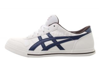 Asics Aaron White Dark Blue Mens Womens Classic Casual Shoes H934Y0158