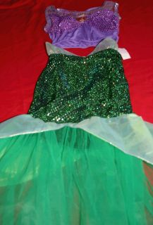 Mermaid Ariel Costume Girls Size 7 8 Disney Princess Ariel New