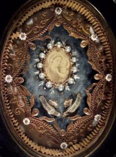 Ornate Frame with The Relics of St Francis Clare of Assisi