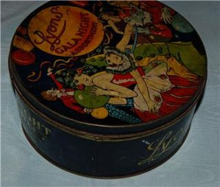 Vintage Lyons Gala Night Assortment Tin Art Deco Large Sweet Biscuit