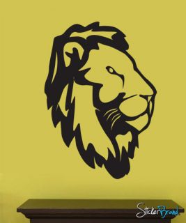 Vinyl Wall Art Decal Sticker Jungle Lion Head