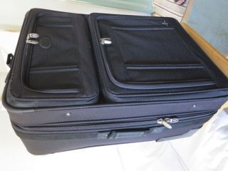 Atlantic Black Upright Wheeled Luggage 29