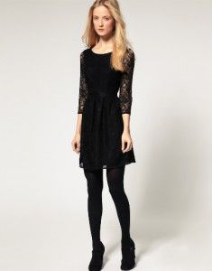 FCUK French Connection 71JM6 Black Lace Vaity Dress 12