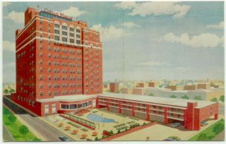 Atlantic City NJ Colton Manor Hotel Postcard New Jersey