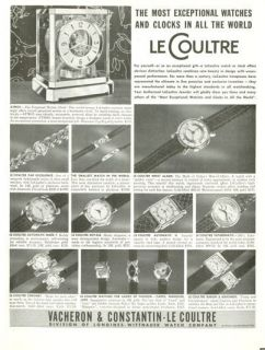 1952 Le Coultre Watches Atomos 12 models Baron Carol Royale Auto PRINT