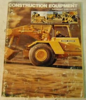 John Deere 1977 Construction Equipment Guide Brochure