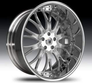 26 asanti AF145 Chrome Wheels Rims 2 Piece