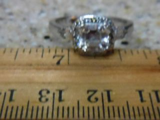 Diamonique Tacori Ring Epiphany Ascher Cut Engagement Style