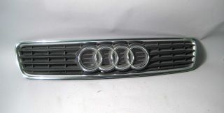 99 00 01 02 Audi A4 B5 Front Grille Grill Black Chrome 8D085365R Used