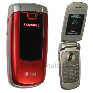 New Samsung SGH A437   Red (AT&T) Cell Flip Phone