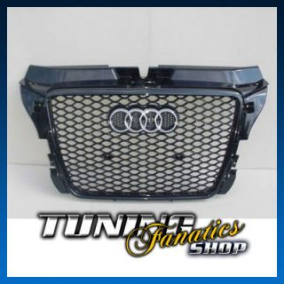 Original Audi RS3 Black Single Frame Grill Grille Audi A3 S3 8P