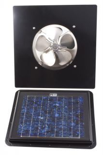 SunRise Solar Attic Vent Fan 11 Watt Panel Gable Unit GBL850