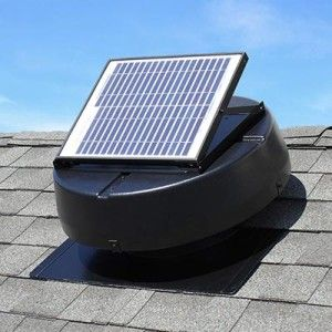 Solar Powered Attic Fan Ventilates Up to 1350 Square Feet Solar