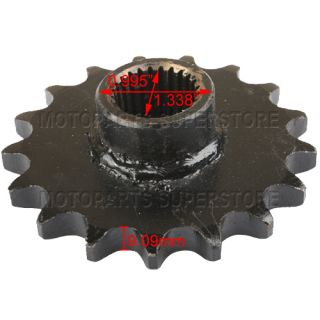 17 Tooth Front Engine Sprocket fit 150cc ATVs Go Karts GY6 Parts
