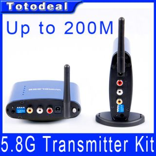8g Video Audio Transmitter Receiver Sender w Wireless IR Remote