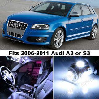 Audi A3 S3 White LED Lights Interior Package Kit 8P