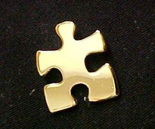 Autism Asperger Gold Puzzle Piece Awareness Pin Tac New