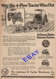 Large 1921 Aultman Taylor 15 30 30 60 22 45 Tractor