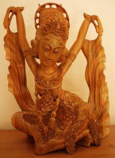 Bali Art Bali Wood Carving Bali Sculpture Dancer 20 5 inches High