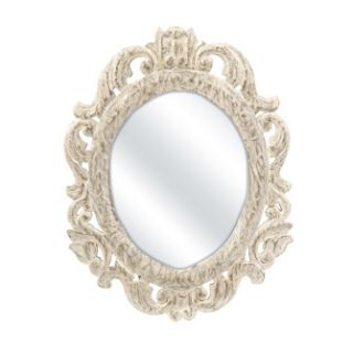 With a shabby chic cottage attitude, the Aurelia oval mahogany mirror
