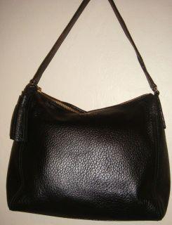 Kate Spade Aurelia Southport Ave Black PEBBLED Leather Hobo Handbag