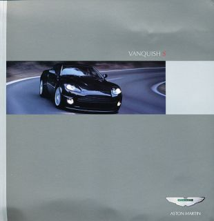 2007 Aston Martin Vanquish S Original Sales Brochure Book Catalog