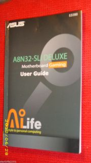 ASUS A8N32 SLI DELUXE DELUXE MOTHERBOARD GAMING USER GUIDE / MANUAL
