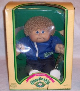Original Box Coleco 1985 Cabbage Patch Kids Doll Colin Audley