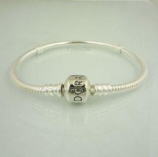 Authentic Pandora Sterling Silver Clasp Bracelet 20cm