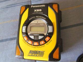 Panasonic XBS Auto Reverse Stereo Radio Cassette Player Walkman