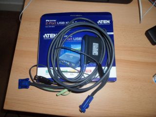 Aten 2 Port USB KVM Switch Cable Unit Model CS 62U