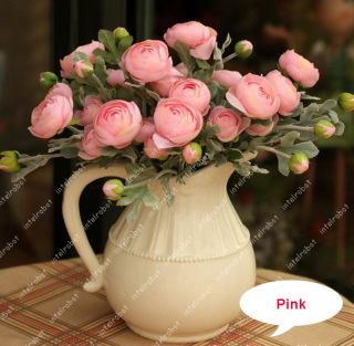 Silk Fake Peony Rose Flower Wedding Bouquets Home Decor Garden Plant