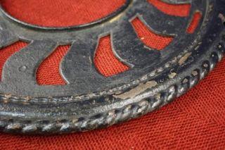 Pcs. Antique 1897 Adams Company Cast Iron Round Grate Vent Heater