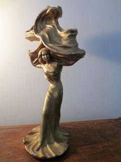 Art Nouveau Lady Statue Austin Productions Sculpture