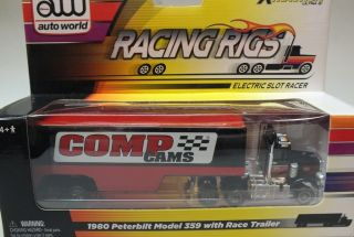 Auto World Racing Rigs Slot Car 80 Peterbuilt 359 Comp Cams Race