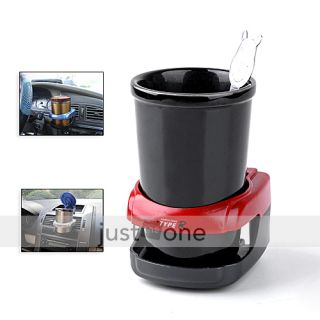 Car Water Bottle Can Coffee Drink Cup Stand Holder Red