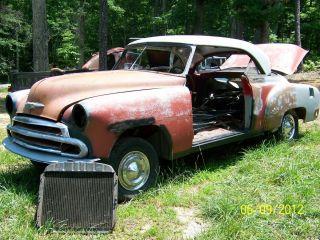 1950 1951 1952 1953 Chevrolet Belair 2 Door Hardtop Parts Car